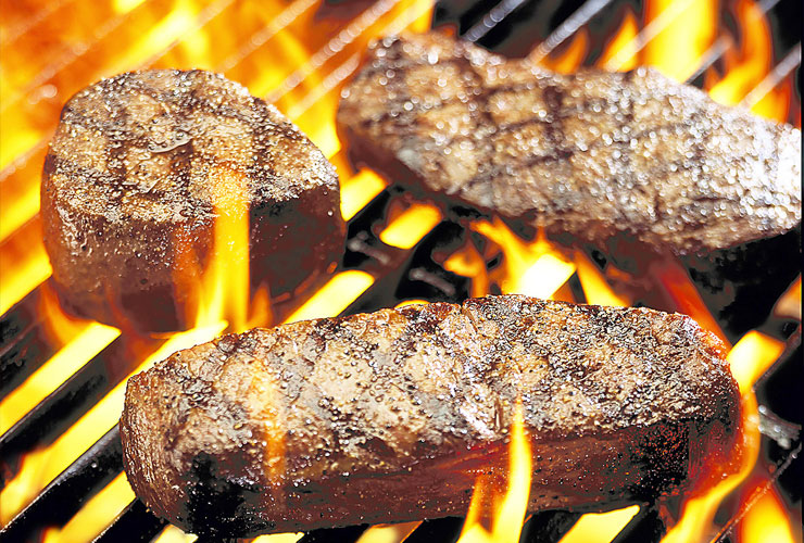 Flames | Finest Steaks grilled to perfection on our Woodstone Grills